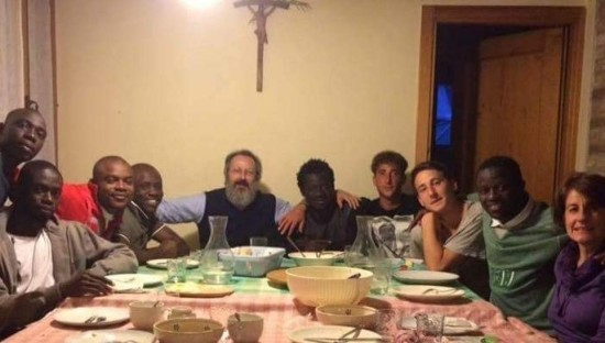 calò e famiglia (dalla trbuna di Treviso)