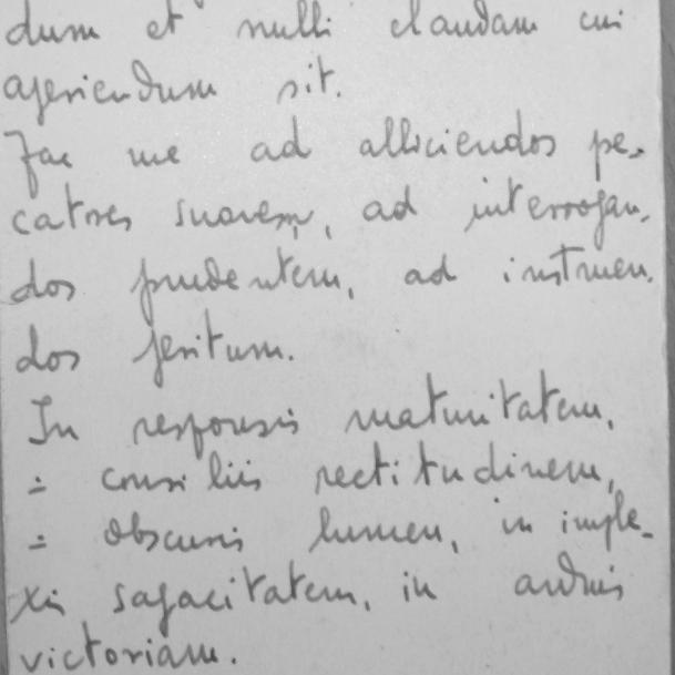 Appunti in latino di Don Francesco Bonifacio